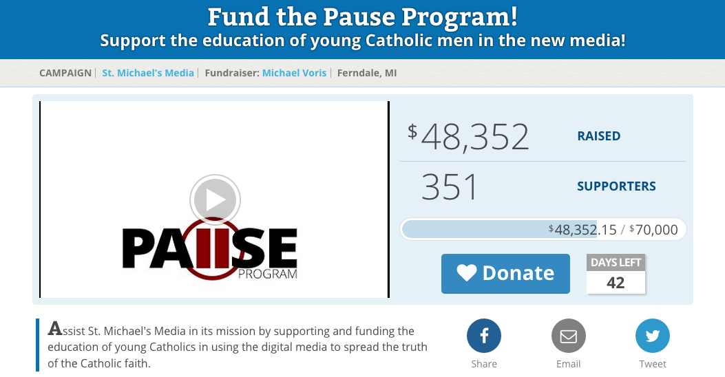 Example of a Long Term Online Fundraising Campaign