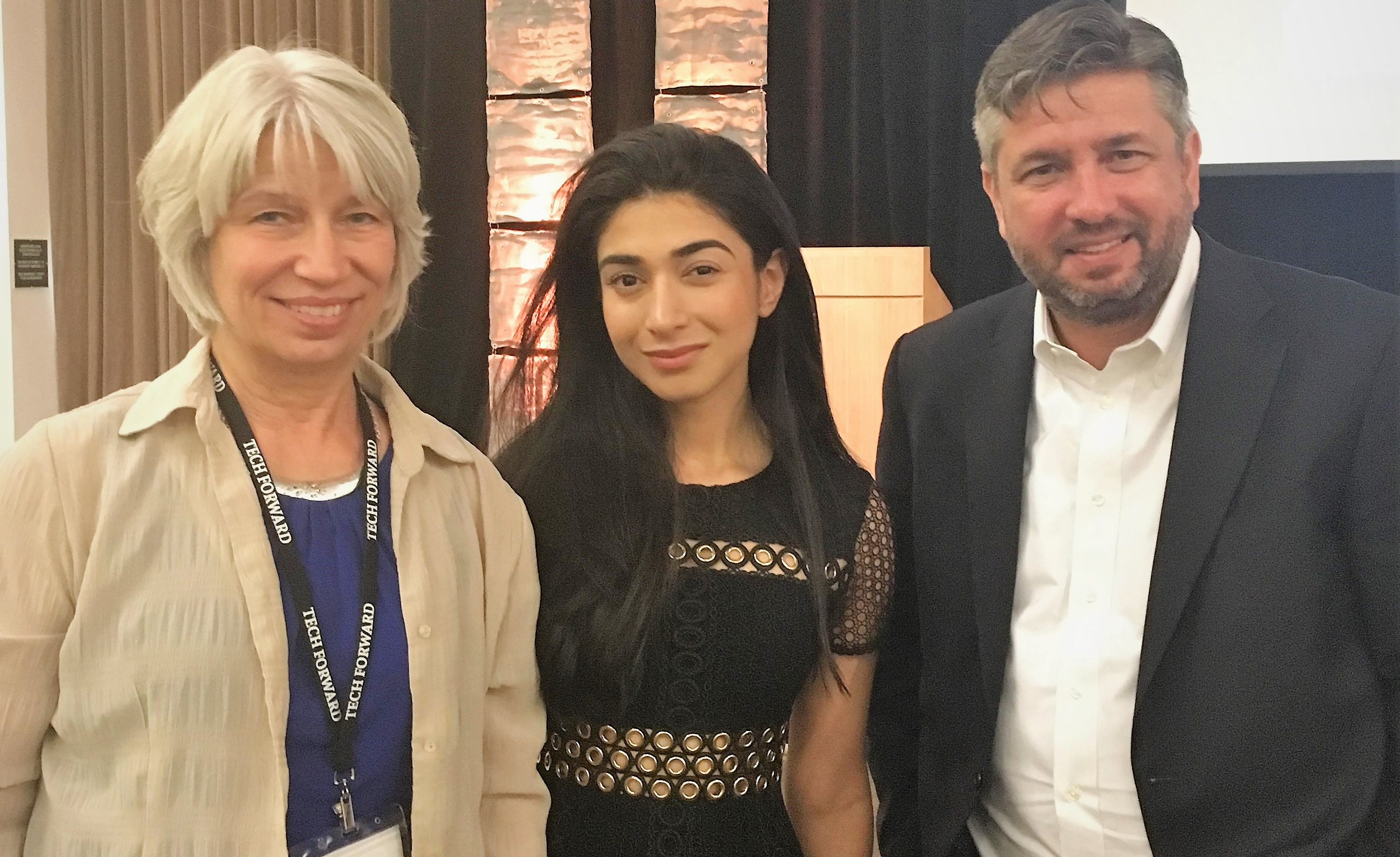 Rebecca Masisak CEO TechSoup, Shiza Shahid Co-Founder NOW Ventures & The Malala Fund, Patrick Callihan Executive Director Tech Impact