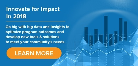 Innovate for Impact in 2018 - Go big with big data and insights to optimize program outcomes and develop new tools & solutions to meet your community's needs. Learn more